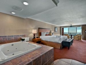 Jacuzzi suite at Hallmark Resort in Cannon Beach.