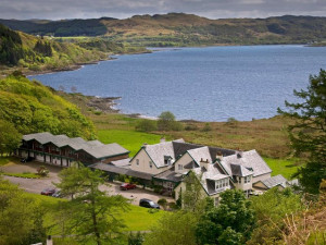 Exterior view of Loch Melfort Hotel.