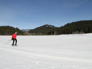 Skiing at  	Natapoc Lodging.