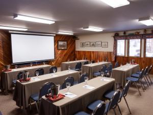 Conference room at Izaak Walton Inn.