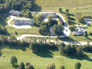 Aerial view of The Inn at Willow Pond.