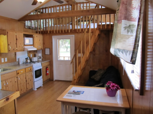 Cabin interior at Miami Everglades.