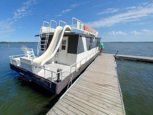 Houseboat at Hiawatha Beach Resort.