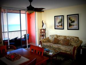 Guest living room at Casa Playa Resort.