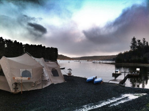 Camping at Hood Canal Cottages.