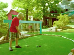 Putt'n Stuff Mini Golf near Bass Point Resort.