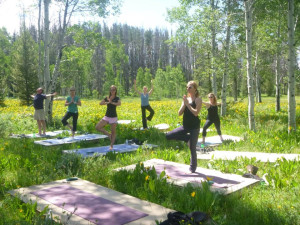 Yoga classes at Vista Verde Ranch.