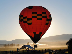 Balloon ride at The Resort at Paws Up.