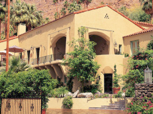 Exterior view of The Willows Historic Palm Springs Inn.
