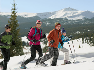 Snowshoeing at Eastern Slope Inn Resort.