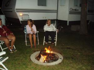 Campfire at Sullivans Resort & Campground.