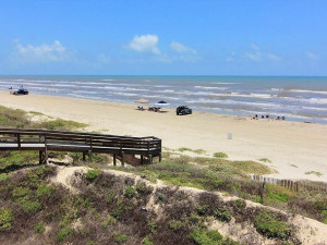 Beach view at Port Aransas Escapes.