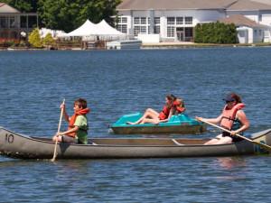 Canoeing on the lake at Terrace Hotel Lake Junaluska.