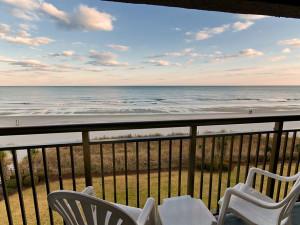 Balcony view at Long Bay Resort.