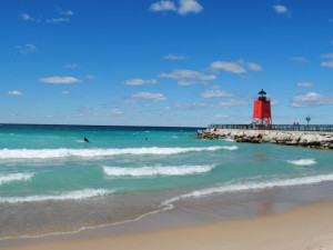 The beach near Charlevoix Inn.