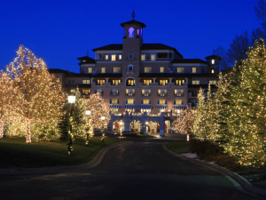 Holiday lights at The Broadmoor.