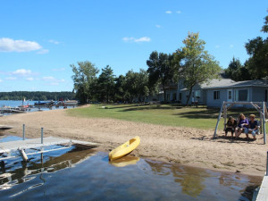 The beach at Auger's Pine View Resort.