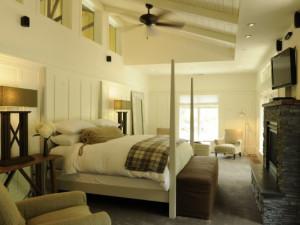 Guest room at Farmhouse Inn & Restaurant.