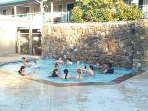 Kiddie pool at Calistoga Spa.