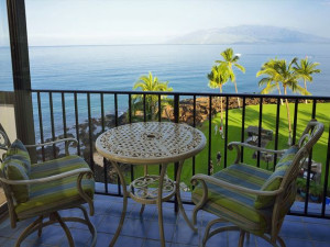 Balcony view at Maui Vacation Rentals.