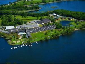 Aerial view of Arrowwood Resort.