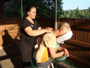 Massage at Madden's on Gull Lake.