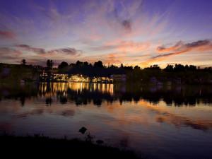 Resort lake view at Golden Arrow Lakeside Resort.