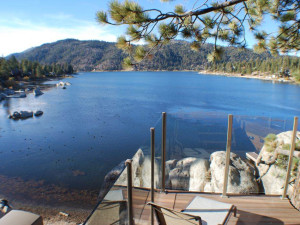 Lake view at Big Bear Cool Cabins.