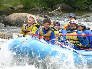 River rafting at Harmels Ranch Resort.
