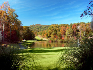Golf course at Rumbling Bald Resort.