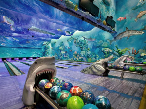 Bowling alley at Big Cypress Lodge.