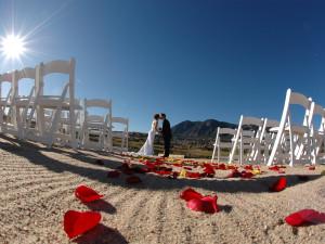 Beach wedding at Cheyenne Mountain Resort.