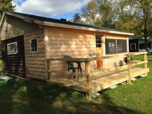 Cabin exterior at Cedarwild Resort.
