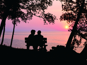 Romantic sunset at Country House Resort.