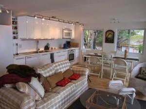 Cottage interior at Bob's Lake Cottages.