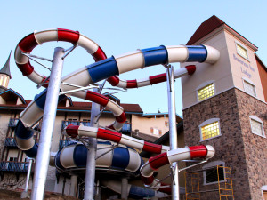 Water slides at Bavarian Inn of Frankenmuth.