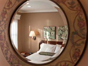 Guest room at Inn on the Hudson.
