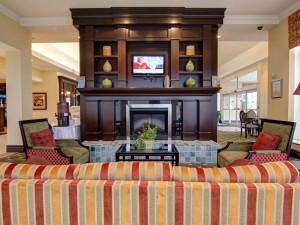 The Lobby at the Hilton Garden Inn Toronto/Ajax