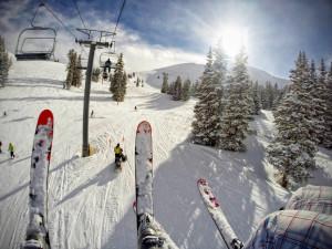 Skiing at  SkyRun Vacation Rentals - Copper Mountain, Colorado.