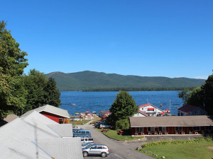 Lake view at Flamingo Resort.