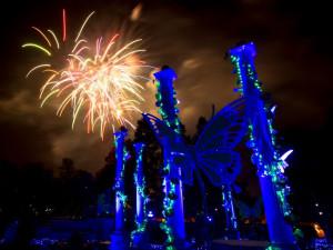 Fireworks display at Virginia Beach Resort Hotel.