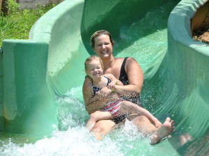 Waterslide fun at Yogi Bear's Jellystone Park Marion.