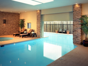 Indoor pool at Nativo Lodge.