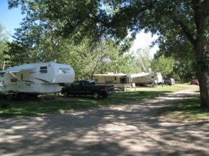 RV campground at Shady Rest Resort.