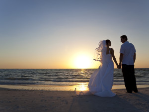 Beach wedding at Hotel Icona.