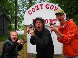 Fishing at Cozy Cove Resort.