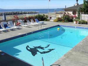 Outdoor pool at Smuggler's Villa Resort.
