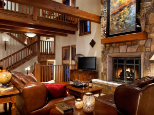 Rental living room at The Porches of Steamboat.