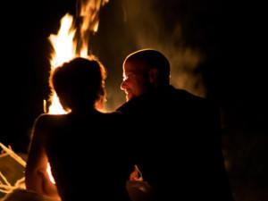 Romantic bonfire at Glenlaurel Inn.