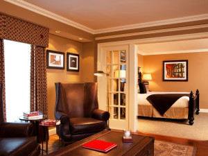 Baseball Suite living room at Hotel Commonwealth.